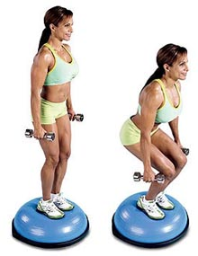 bosu-squat