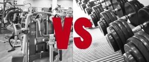 volná váha vs stroje
