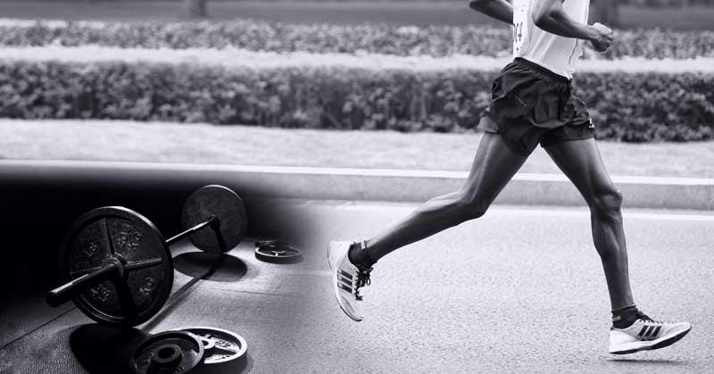 silový trenink a běhání