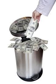 Peníze v koši