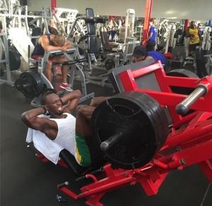 Usain Bolt legpress